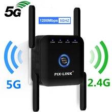 5G WiFi Repeater WiFi Amplifier 5Ghz WiFi Long Range Extender 1200M Wireless Wi Fi Booster Home Wi-Fi Internet Signal Amplifier