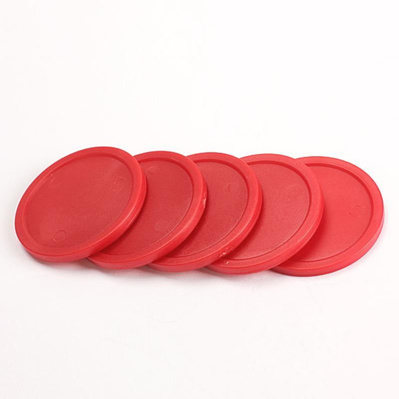 5Pcs/Set Red 2-inch Mini Air Hockey Table Pucks 50mm Puck Children 4mm Thickness Air Hockey Pushers Table Games Entertaining Toy