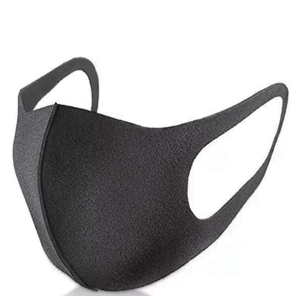 2Pcs Black Bilayer Cotton Mouth Mask Anti Haze Dust Washable Reusable Double Layer Dustproof Mouth-muffle Winter Warm Mask