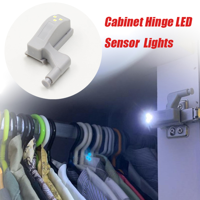 New Light Universal Inner Hinge LED Sensor Lamp 0.3W Cabinet Wardrobe Cupboard Door 3 LEDs Night Light Auto Switch ON/OFF Bulb