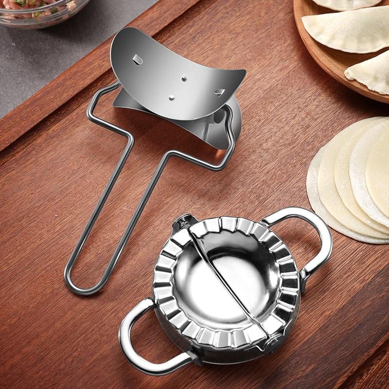 7 см из нержавеющей стали клецки машина и лезвие для резки теста для дома кухня тесто круглый ролик машина клецки кожи плесень WF96