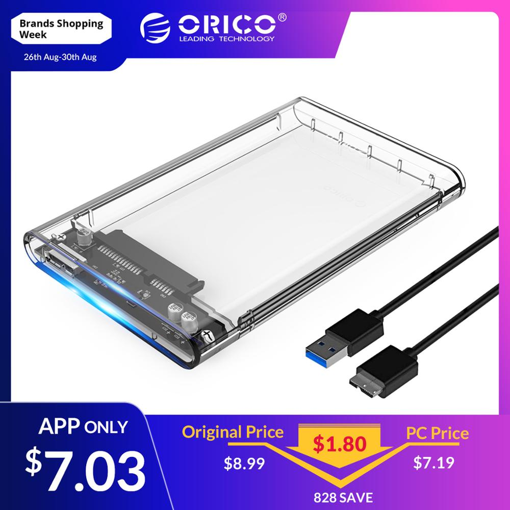 ORICO Hard-Drive-Enclosure Hdd-Case-Tool USB3.0 Transparent Sata-3.0 Gbps 2TB Free-5