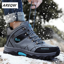 Buy New Men Winter Snow Boots Warm Super Men High Quality Waterproof Leather Sneakers Outdoor Male Hiking Boots Work Shoes 39-47 directly from merchant!
