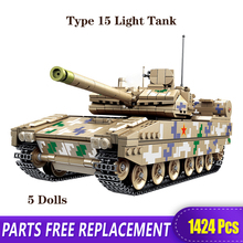 ww2 xingbao the germay leopard 2a6 main battle tank military model armored vehicle building blocks bricks toys birthday gifts XB The Technic Military WW2 Type 15 Light Tank Fighting Armored Vehicle Model Building Blocks Bricks Toys With Figure Boy's Gift