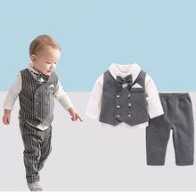 Костюм для маленьких мальчиков рубашка с длинными рукавами и