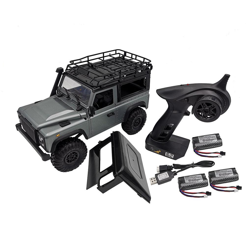 MN-99S 1/12 2.4G 4WD Rc Car W/ Turn Signal LED Light 2 Body Shell Roof Rack Crawler Truck RTR Toy