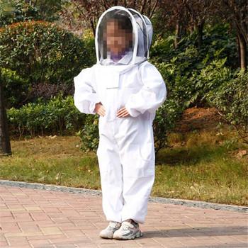 Dzieci Anti-Bee garnitur narzędzia pszczelarskie Kid odzież pszczelarska oddychający garnitur dla dzieci praktyka pszczelarska tanie i dobre opinie CN (pochodzenie) Child Beekeeping Equipment Veil Hat Safety Beekeeper Suit M L Beekeeping suit protect bee biting Full body bee equipment