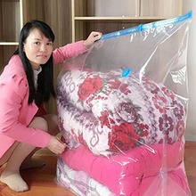Compressed-Organizer Cube Vacuum-Bag High-Capacity for Quilts-Clothes Transparent Space