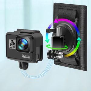 Image 3 - カクレクマノミクイック添付バックパックバッグクリップバックルxiaomi李4 18k mijia移動プロヒーロー345789 sjcam SJ5000 SJ6/8/9プロ/最大H9Rカメラ