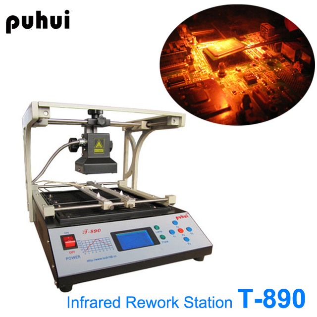 T-890 Infrared SMT SMD BGA Rework Reflow Soldering Stations BGA Repair Machine IRDA Welder puhui T890 1500W  AC110V or 220v