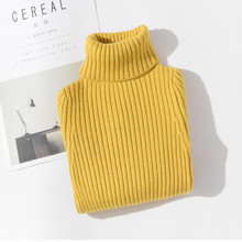 Baby Girls Winter Turtleneck Sweater Colthes Autumn Boys Children Clothing Pullover Knitted Solid Kids Sweaters