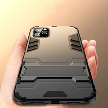 Keajor Case For iPhone 11 Pro 2019 case TPU+PC Hard Plastic Kickstand Bumper Cover On for Max Fundas
