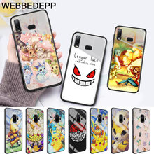Pika Go PokeBall animal Glass Case for Samsung S7 Edge S8 S9 S10 Plus A10 A20 A30 A40 A50 A60 A70 Note 8 9 10 стоимость