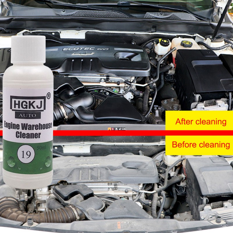 Hot 1PCS 50/20ML HGKJ-19 Engine Compartment Cleaner Removes Heavy Oil Car Window Cleaner Cleaning