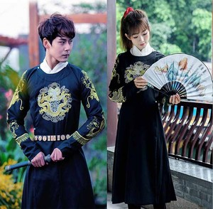 Couples Costume Ancient Chinese Vintage Hanfu Outfit Fantasia Adult Carnival Costume Fancy Dress For Men/Women Plus Size 2XL(China)