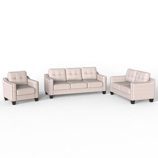 Living Room Set, 1 Sofa, 1 Loveseat And 1 Armchair  5