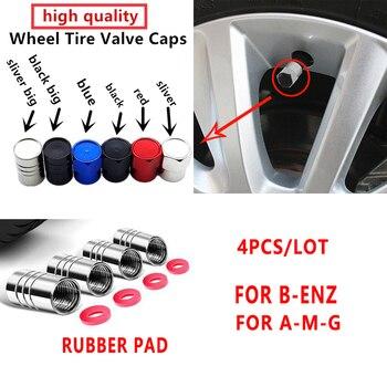4pcs aluminum Car Tire Wheel Valve Stem Caps for Mercedes benz AMG w204 w203 w212 w211 w124 w210 GLC GLE E CLA GLA W205 W211 недорого