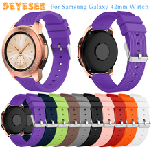 New Silicone watch strap For Samsung Galaxy Watch 42mm wristband Replacement For Samsung Gear S2/Gear sport watch band bracelet excellent quality 2016 new women luxury silicone watch band strap for samsung galaxy gear s2 sm r720 best price