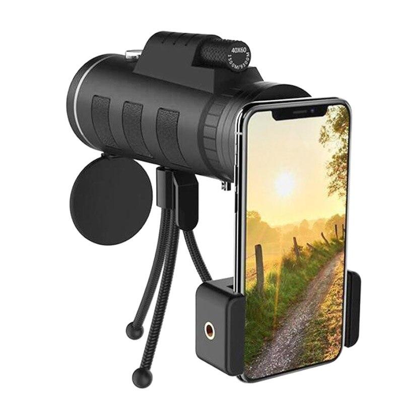 16x52 40x60 12x50 Long Range Monocular Telescope For Smartphone