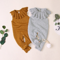 H93ac458fd61849f6b8e43f13f8d0ead6I 2019 Newborn baby boy rompers Toddler Jumpsuit Girls Candy Color Knitted Baby Clothes Infant Boy Overall Children Outfit Spring