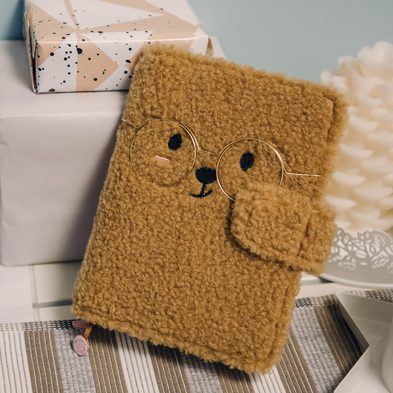 2020 New Arrives Cute Bear Soft A6 Journal Cover Suit For Standard A6 Fitted Paper Book DIY Planner Scheduler Agenda Supplies