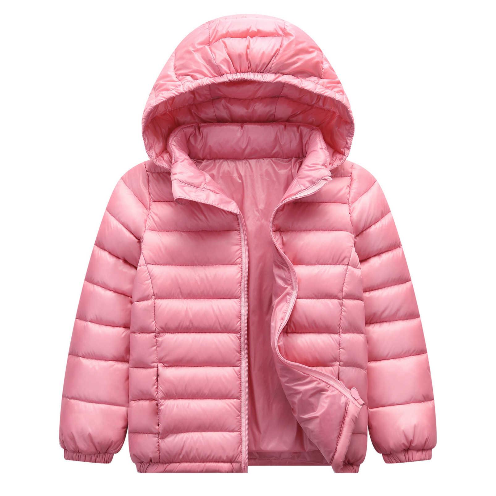 Baby Girls Boys Winter Lightweight Down Coat Hoodies Kids Puffer Warm Coat Outwear Windproof Jacket