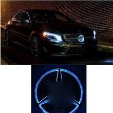 LISIDIC Car Front Grilled Star Emblem LED Illuminated Logo for Mercedes Benz 2013-2016 Center Front Badge Lamp Light Blue Light eosuns car styling led star light drl for mercedes benz gls550 amg gls63 front grille led logo emblem daytime running light