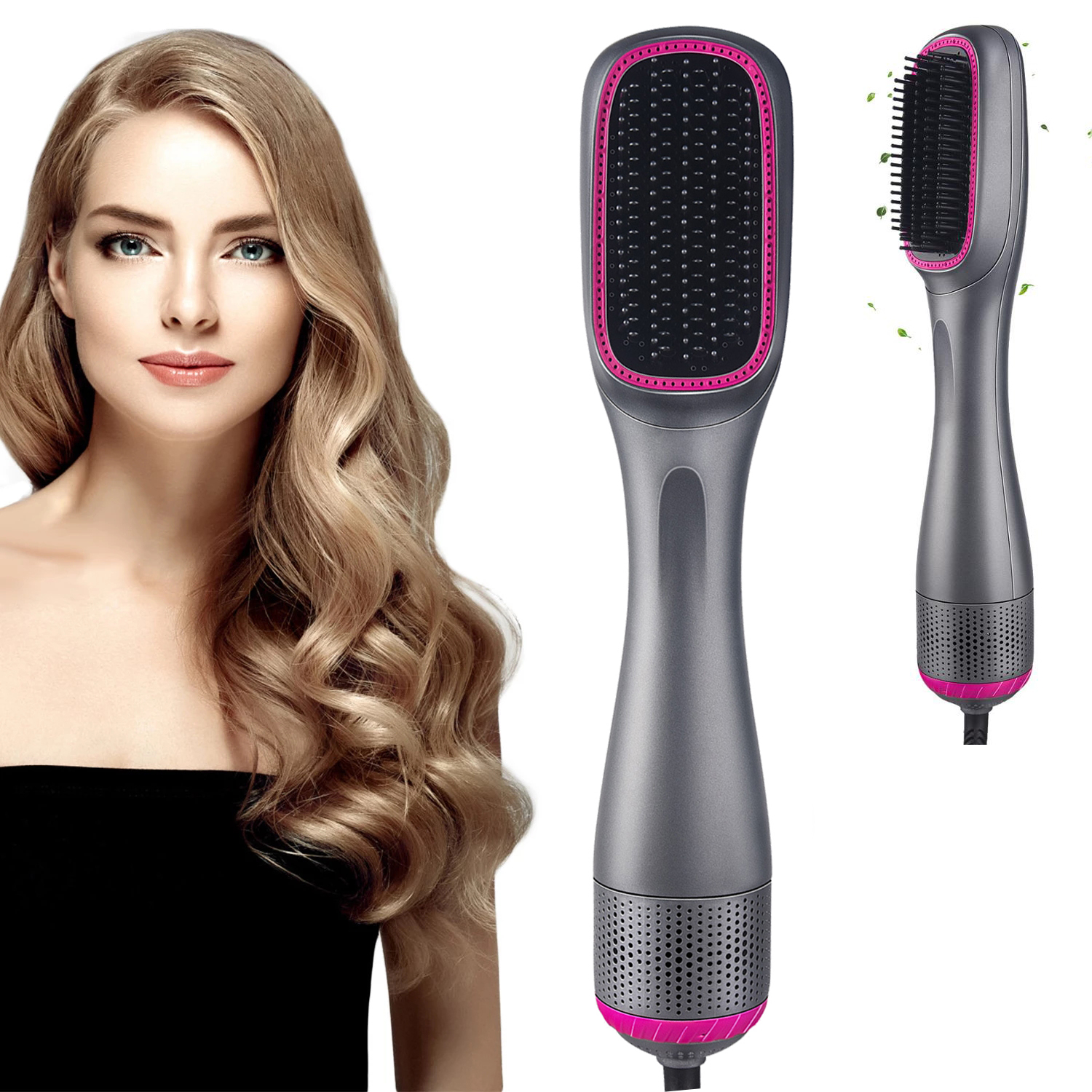 Professional Hair Dryer Blow Dryer Brush 3 In 1 One Step Hairdryer Blow Drier Hair Straightener Brush Hot Air Styling Comb
