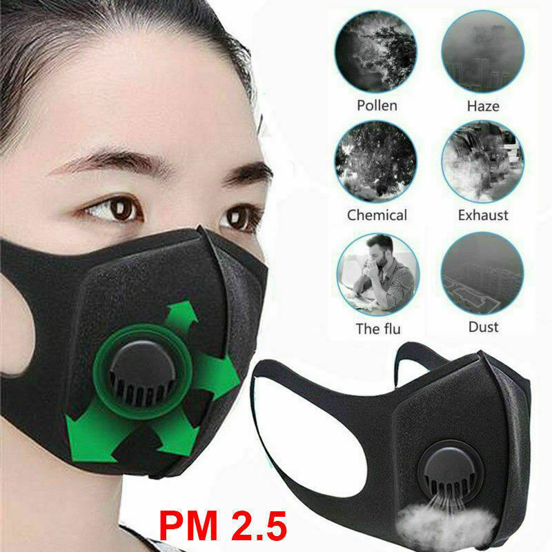 Anti Pollution Mask Air Filter Mask N95 Respirator Dust Mask PM2.5 5 Layers Washable Cotton Mouth Masks With Replaceable Filter