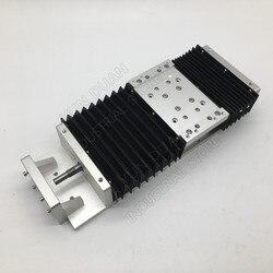 XYZ elektryczny stół przesuwny slajdów moduł liniowy SFU1605 Ballscrew HG15 przewodnik platformy i osłona przeciwpyłowa pyłoszczelna 200MM 8 cal skoku w Prowadnice liniowe od Majsterkowanie na
