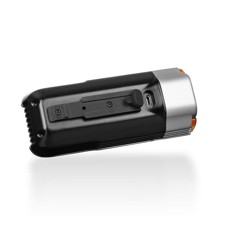 1800 Lumen Fenix BC35R Cree XHP50 Neutraal Witte LED Alle ronde USB Oplaadbare Fiets Licht met oled scherm - 3