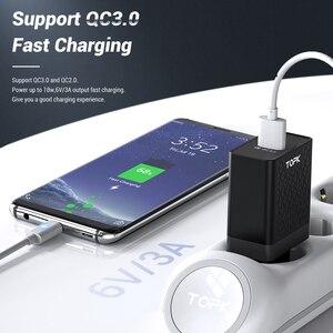 Image 2 - TOPK cargador rápido de teléfono móvil, adaptador de carga USB de pared con enchufe europeo para iPhone, Samsung y Xiaomi, 18W, 3,0