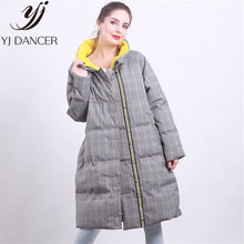 Winter Casual Down Jacket Women 2019 New Fashion Korean Version Of The Knee Overcoat Was Thin And Loose Down Coat Female NICE022(China)