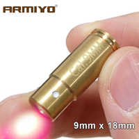 Armiyo Brass Boresighter CAL: 9mm .380Cal 9x18mm and 9x19mm Cartridge Bore Sight Red Laser Hunting Accessories No Batteries