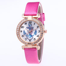 Gold plated diamond watch women student belt Watch Hot Pretty Gift women watch Quartz Female Clock Relogio Feminino(China)