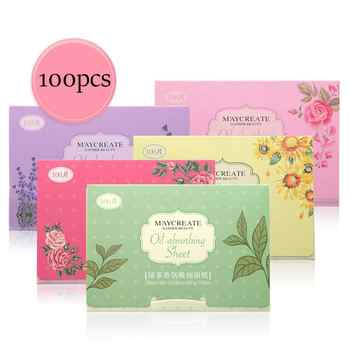 100pcs Korea Fragrant Tissue Paper Face Oil Absorbing Paper Plant Fibres Breathable Linen Pulp Blotting Paper For Face - DISCOUNT ITEM  33% OFF Beauty & Health