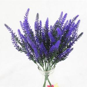 Image 1 - 1 bunch Artificial lavender rayon flower desktop fake flower arrangement decoration wedding party decoration Photo props