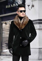 Winter Men Designer Coats Thick Men Long Sleeve Lapel Neck Single Breasted Mens Blends Casual Male Outerwear