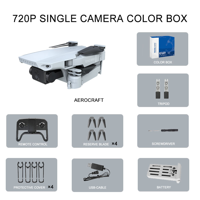 KF609 RC Drone 4K HD Camera Professional Aerial Photography Optical Flow Fixed Height WIFI Real Time Transmission Quadcopter