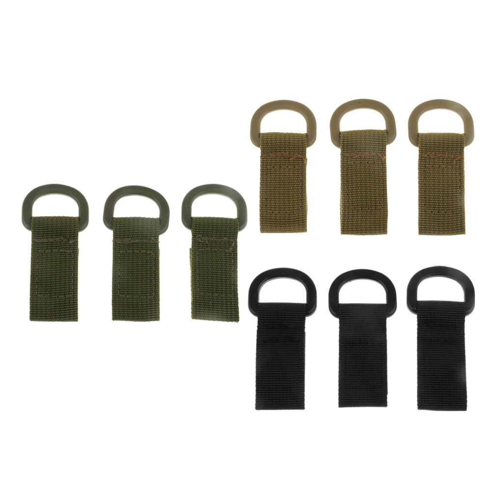 3pcs Durable Nylon Molle Webbing Belt Buckle Adapter Hanging Outdoor Camping Hiking Tool For MOLLE Systems Backpack