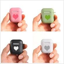 كاندي غطاء من السيليكون ل AirPods 12 حالات القلب زوجين أبل سماعة لاسلكية تعمل بالبلوتوث سماعة واقية غطاء ملون سماعة