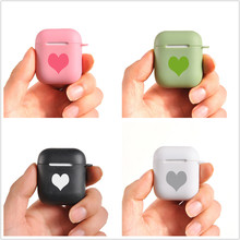 Candy Silicone Case Voor Airpods 12 Gevallen Hart Paar Apple Draadloze Bluetooth Oortelefoon Beschermhoes Kleurrijke Oortelefoon Cover
