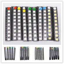 Kit de led 100 pçs/lote 1206 1210 5050 vermelho/verde/azul/branco/amarelo led diodo conjunto 5 cores cada 20 peças
