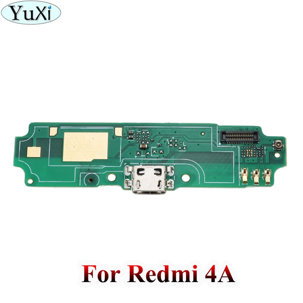 YuXi 10pcs/lot Microphone Board Replacement For Xiaomi Redmi 4A USB Plug Charging Charge Port Dock Flex Cable