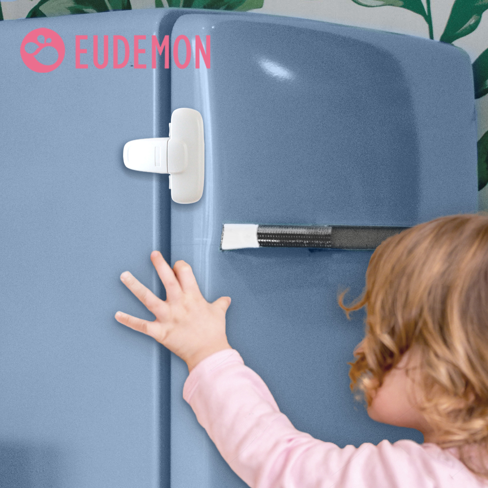 EUDEMON 2pcs Cool Single Door Fridge Safety Lock For Mini  Refrigerators Door Baby Safe Protection From Children Lock Security