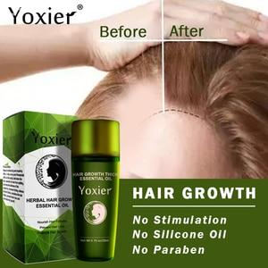 Image 4 - Yoxierハーブ髪の成長エッセンシャルオイルシャンプーヘアケアスタイリング損失製品の厚さの高速修理成長処理液