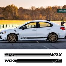 2Pcs Für Subaru WRX Auto Tür Side Stripes Aufkleber Vinyl Film Auto DIY Sport Styling Decals Automobil Auto Tuning zubehör