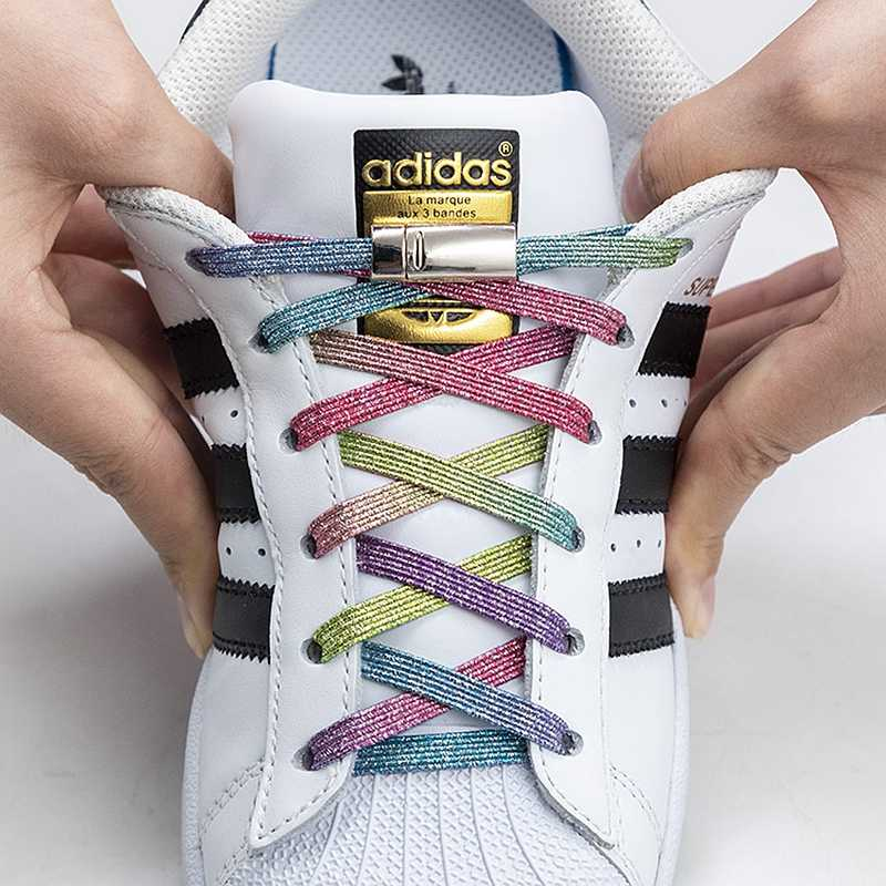 New Magnetic Shoelaces Elastic No Tie Shoe laces Flat Locking Shoelace Kids  Adult Sneakers Lazy Laces One Size Fits All Shoes    - AliExpress