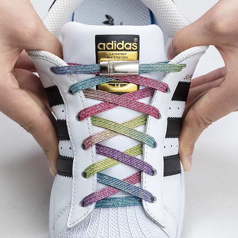 New Magnetic Shoelaces Elastic No Tie Shoe laces Flat Locking Shoelace Kids Adult Sneakers Lazy Laces One Size Fits All Shoes