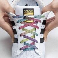 Nuevo agujetas magnéticas zapato que No se ata cordones de bloqueo plano cordones niños adultos zapatillas cordones para perezosos talla única se adapta a todos los zapatos